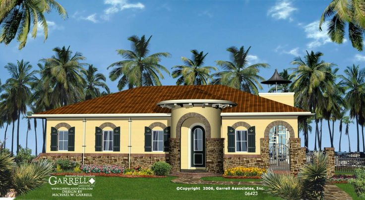 Garrell associates inc bella vista house plan 06423 for Mediterranean elevation