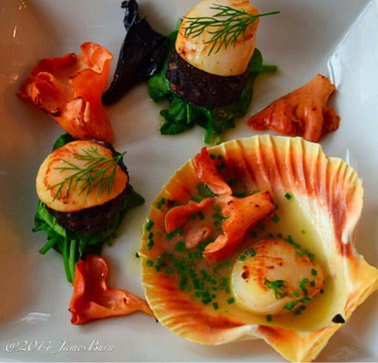 My scallop dish in the Wirral food guide