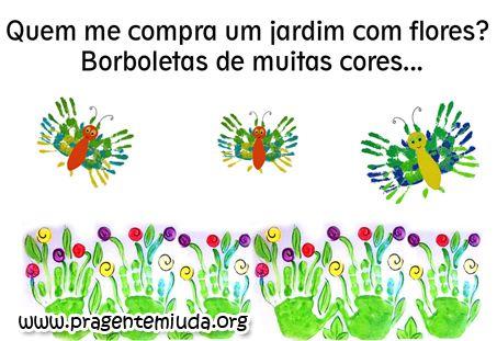 Atividades para maternal, creche e berçário: Plano de aula para a primavera - Leilão de Jardim