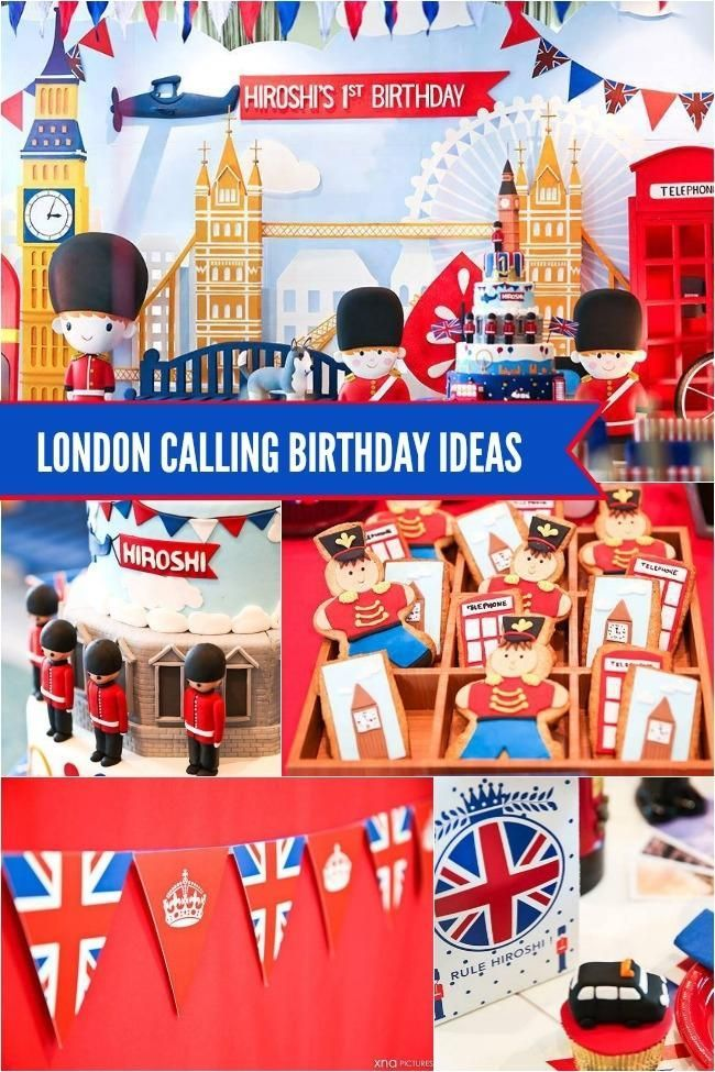 These London Calling Birthday Party Ideas Will Inspire A Great Celebration For Your Family From Supplies To Food Decorations Lots Of