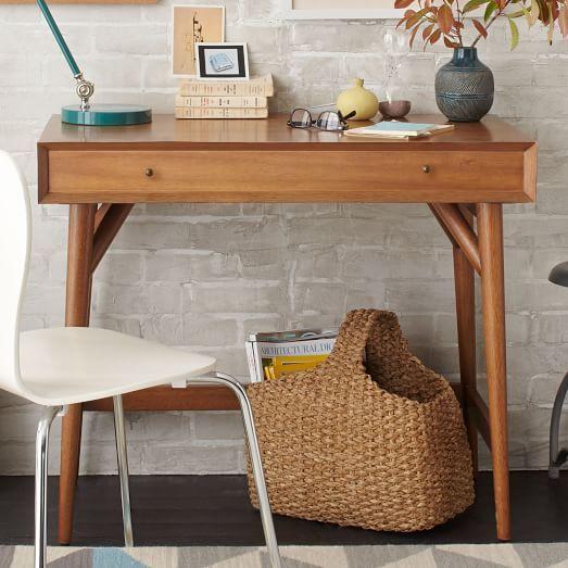 Mid-Century Mini Desk – Acorn | West Elm $399 + Delivery Surcharge $15
