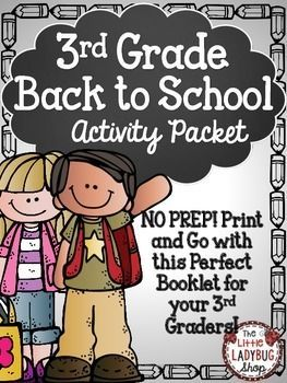 Back To School Activity Packet {3rd Grade- NO PREP} | Back To School | 3rd Grade Activity | No Prep | First Day of School |Beginning of Year ActivitiesThis Back to School activity packet is perfect for your 5th graders as they start back to school! The first few days of school are so hectic, why not make your time valuable and manageable!
