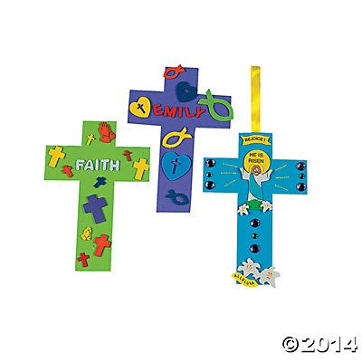 19 best gift christmas easter basket ideas images on pinterest great to have on hand for sunday school or vbs lessons these foam cross shapes are fun and easy to decorate our jumbo sized crosses come negle Image collections