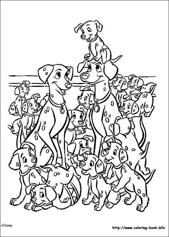 169 best Disney 101 Dalmations, 102 Dalmations, Coloring Pages ...