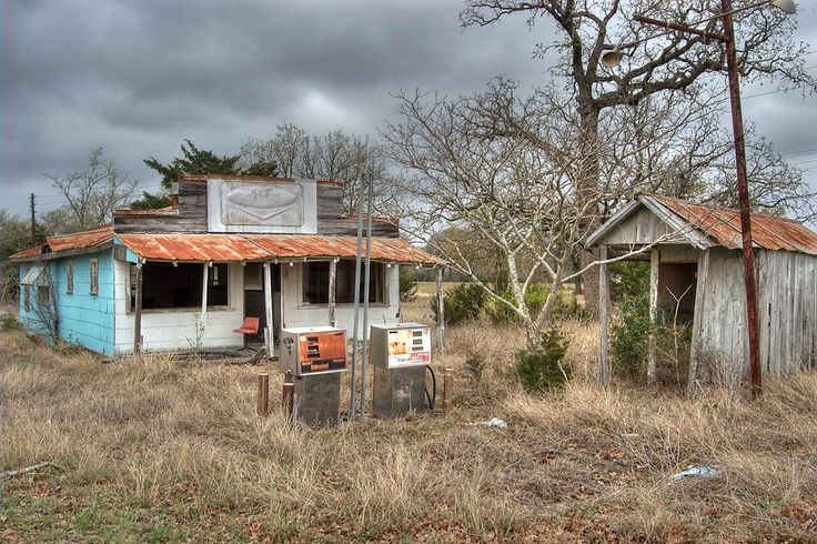 Abandoned gas station - search in pictures
