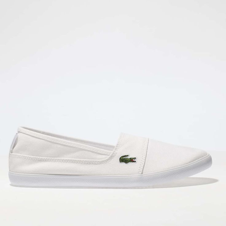 womens white lacoste marice 217 trainers - £48