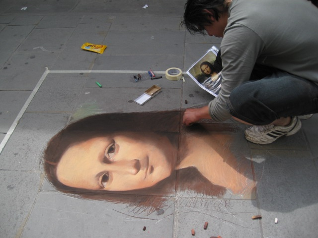 Sidewalk art - Florence