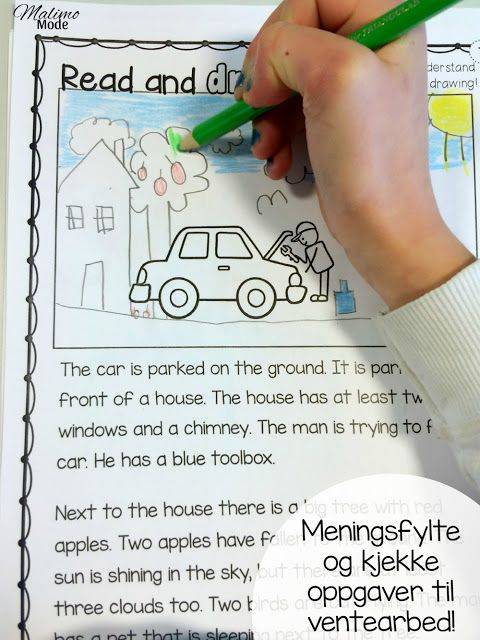 Meningsfylte og kjekke oppgaver til ventearbeid. Gratis nedlasting av 10 engelske ark, egnet for hele barnetrinnet!