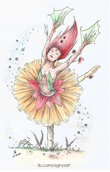 """Dahlia, The Dancing Flower"" #Nature #Watercolor #Dance #Flower"