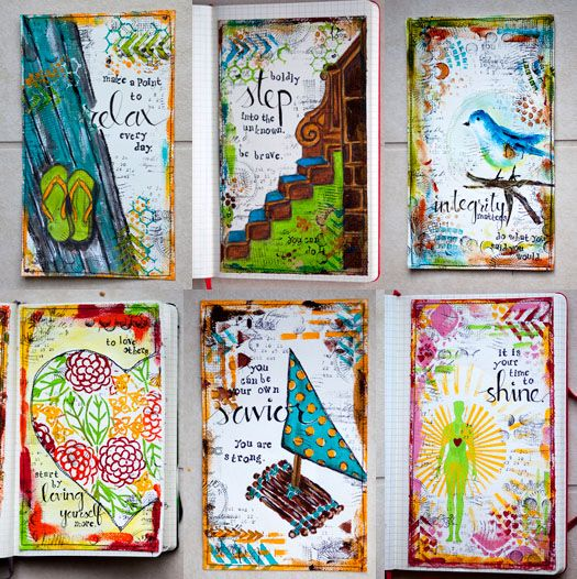 807 best creative journal ideas images on pinterest for Journal painting ideas
