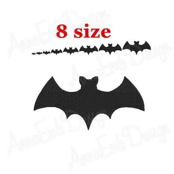 USD 1.99 Bat Embroidery design. Bat Silhouette. Bat mini Embroidery. Bat design. Halloween Bat Embroidery Design. Machine Embroidery Design. by AnnaEmbDesign on Etsy