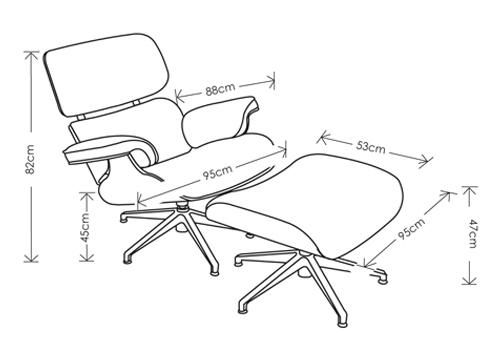 Eames Lounge Chair Dimensions Woodworking Projects Amp Plans