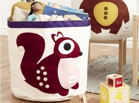 SQUIRREL BIN!  3 Sprouts handy bins hold toys, towels, laundry and more