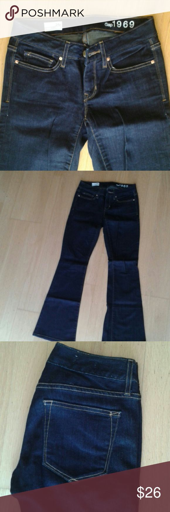 """New Gap 1969 curvy jeans New without tags. Never worn dark blue """"curvy"""" - boot cut jeans. GAP Jeans Boot Cut"""