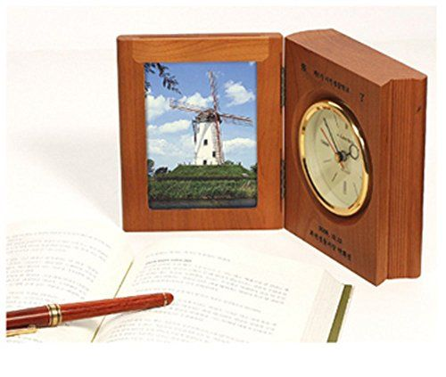 Living Pluse Book Style Wooden Table Clock With Picture Frame #Living #Pluse #Book #Style #Wooden #Table #Clock #With #Picture #Frame