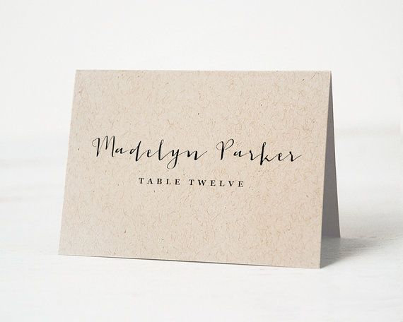 This Listing Is For Printable Wedding Place Cards You To Print At Home Or