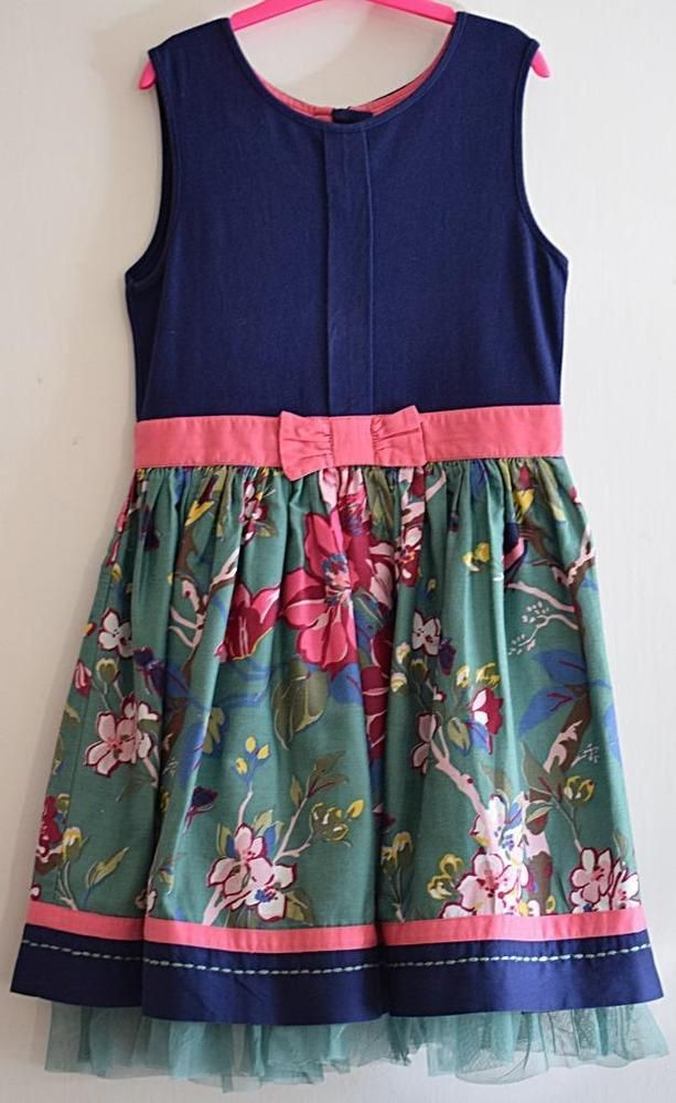 Bnwt Girls Next Blue Denim Dress 9 Yrs