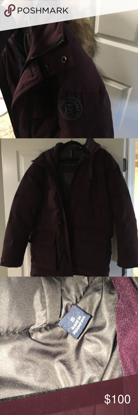 Tommy Hilfiger Down Jacket/ Parka Tommy Hilfiger Purple/ Deep Plum Down Parka  Men's size small  Smoke free home  Worn a handful of time - in great condition Tommy Hilfiger Jackets & Coats Puffers