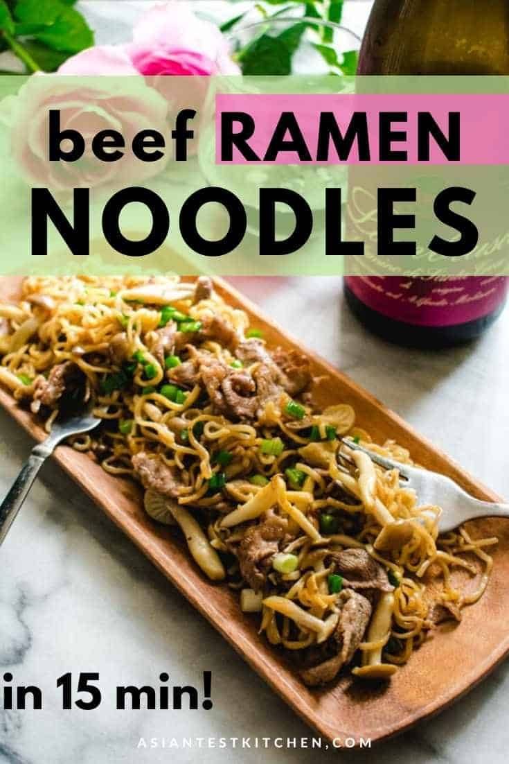 15 Minute Beef Ramen Noodle Stir Fry Upgrade Your Regular Ramen