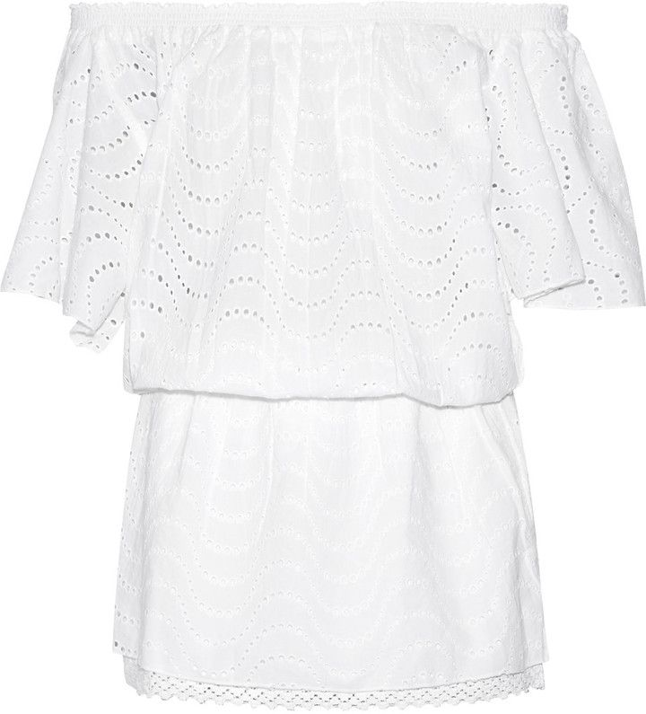 Melissa Odabash Michea broderie anglaise cotton coverup