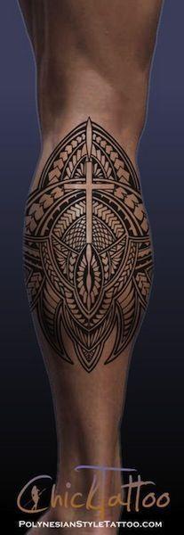 polynesian calf leg tattoos egodesigns #tattoospolynesiansleeve