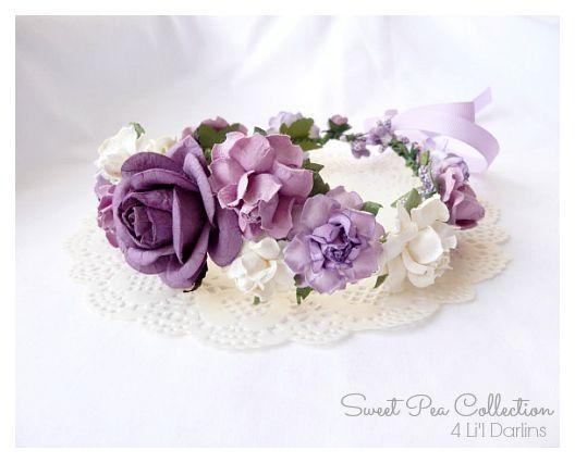 Lavender Blossom Flower crown-flower crown, floral crown, floral halo