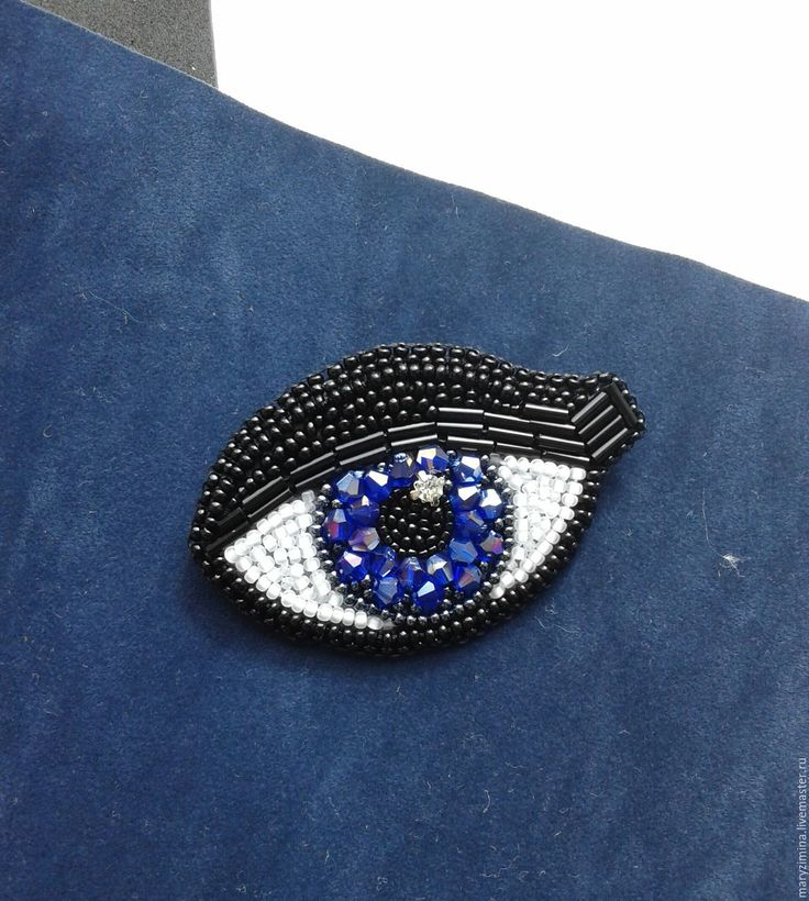 Купить или заказать Брошь 'Глаз 2' в интернет-магазине на Ярмарке Мастеров. Брошь вышитая бисером.