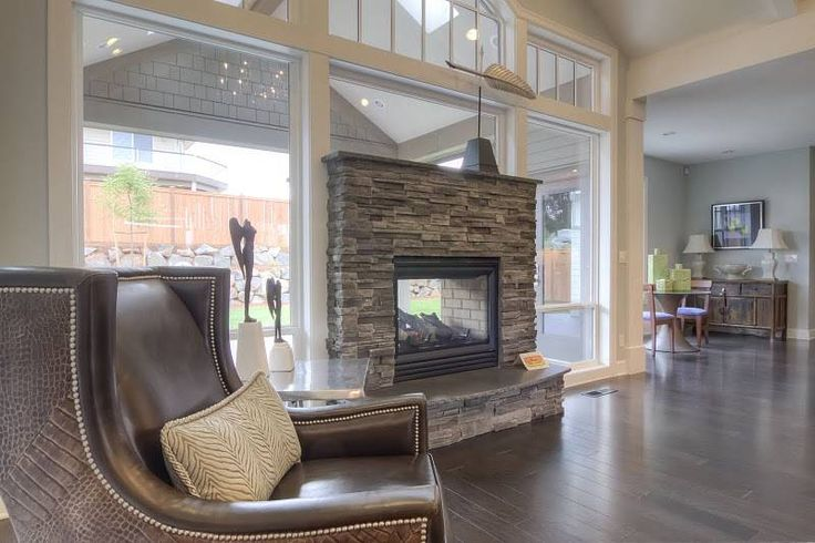 Mascord Plan 22158 - The Willard - Double sided fireplace inside and outside