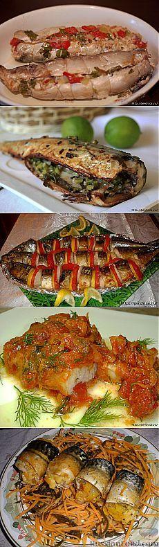 Подборка вкусных блюд из скумбрии.