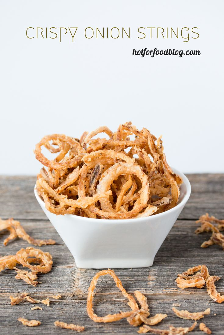 crispy onion strings are great on burgers... or salads, or mac & cheese #vegan | RECIPE on hotforfoodblog.com