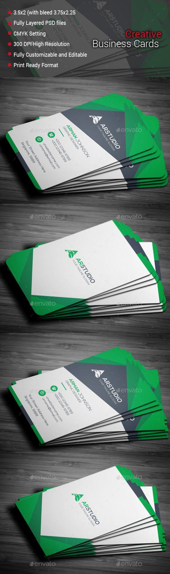 Creative Business Card Template PSD #design Download: http://graphicriver.net/item/creative-business-card/14059091?ref=ksioks