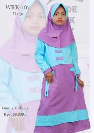 Baju Gamis Anak Perempuan  WRK-107 UNGU