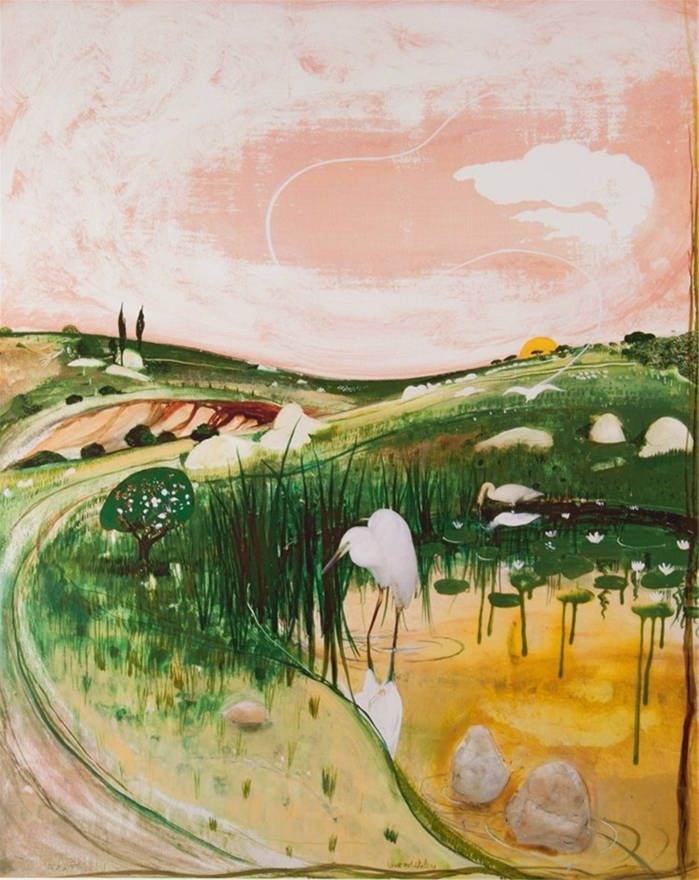 Brett Whiteley Title: Marulan Bird with Rocks