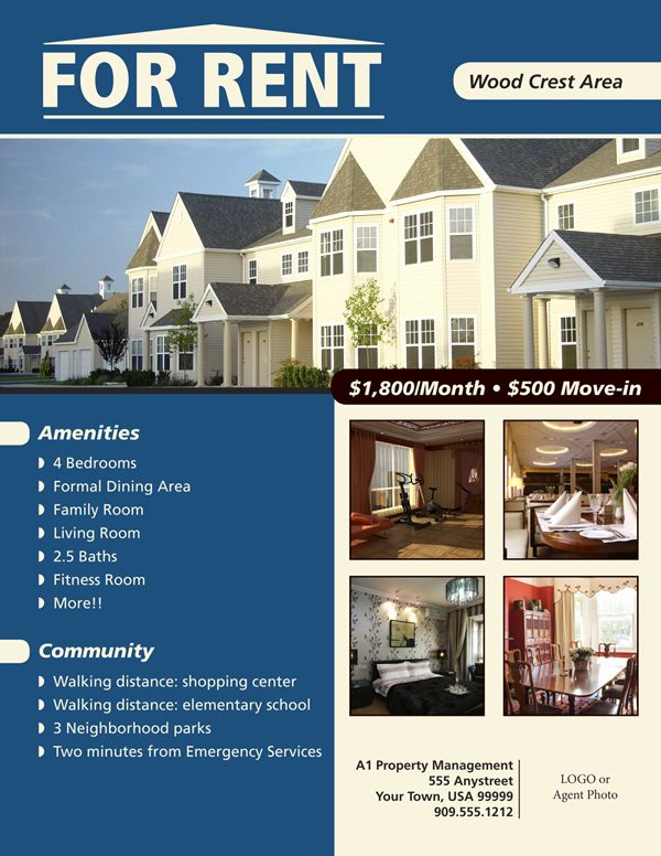 For Rent Flyer Template Free New Flyers For House Renting Flyer Real Estate Templates Real Estate Flyer Template Real Estate Flyers