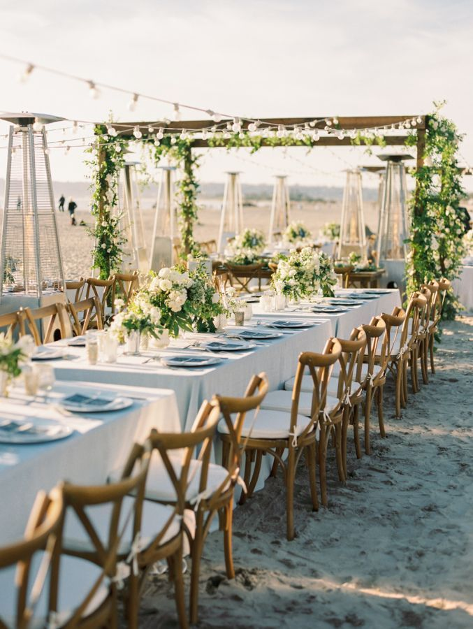 Feel The Sand Between Your Toes With This Beach Reception Wedding