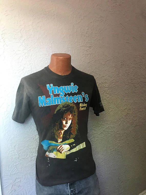 Vintage 80's Metal T Shirt Yngwie Malmsteen Rising Force