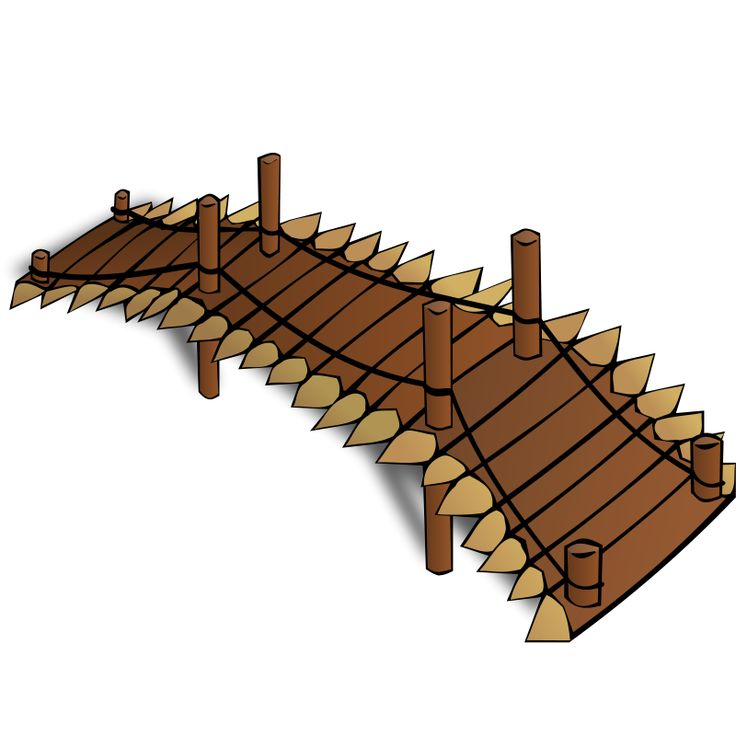 Rpg Map Symbols: Wooden Bridge Clipart