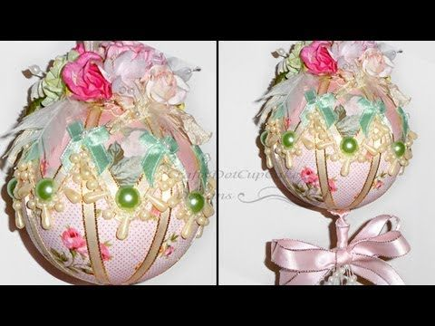 Tutorial - Shabby Chic Christmas Ornament / Bauble