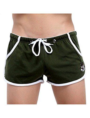Herren Boxershorts Spalt Tasche Sport Shorts NK48