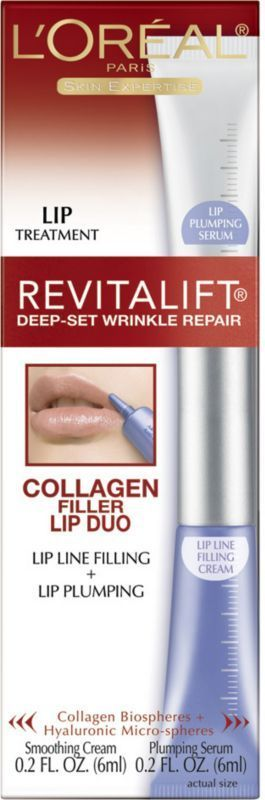 L'Oreal Revitalift Deep-Set Wrinkle Repair Collagen Filler Lip Duo Treatment