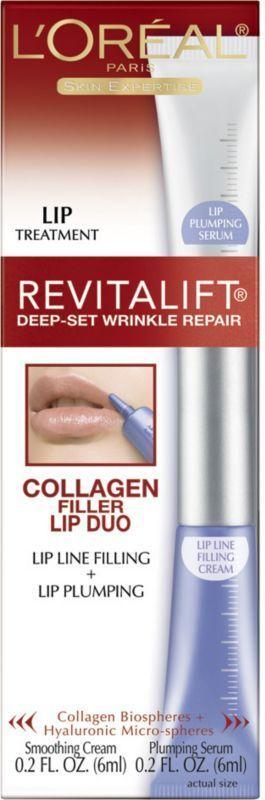 L'Oreal Revitalift Deep-Set Wrinkle Repair Collagen Filler Lip Duo Treatment