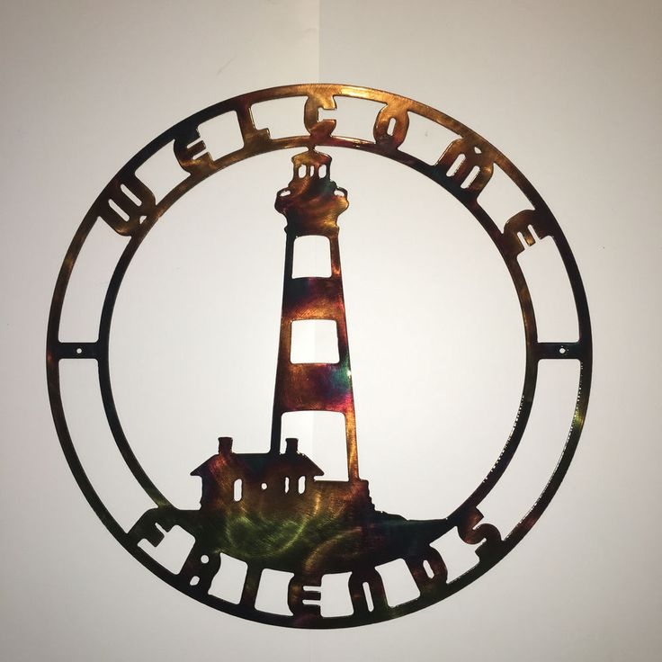Bodie Island NC Lighthouse Nautical Indoor & Outdoor Metal Wall Art Welcome Sign  | eBay