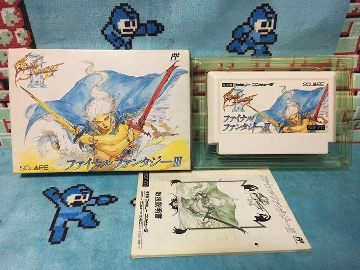 Final Fantasy III Famicom Japan NTSC-J Nintendo Squaresoft boxed set FF3 FFIII