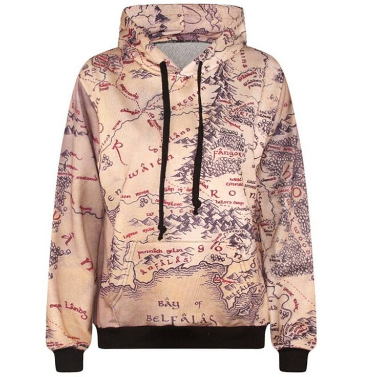 Middle Earth Map Hoodie