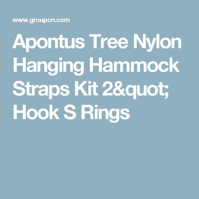 """Apontus Tree Nylon Hanging Hammock Straps Kit 2"""" Hook S Rings"""