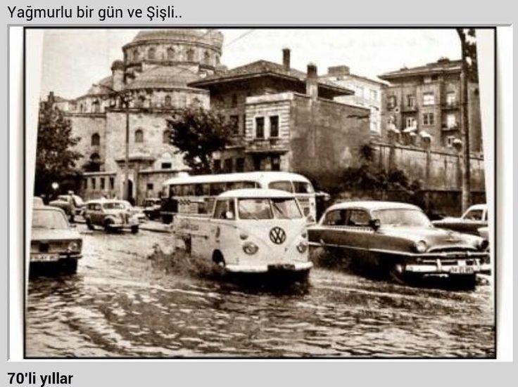 yağmurlu bir gün ve Şişli (1970ler) #istanbul #şişli #istanlook #yağmur