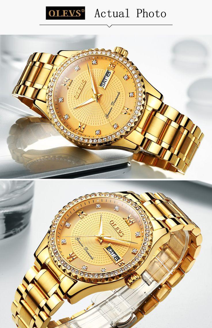 OLEVS Relojes Para Hombres de Primeras Marcas de Lujo de Cuarzo de Acero Completo Reloj de Los Hombres de Negocios de Moda Deporte Impermeable Reloj de Pulsera  List price:73.58 €  Price:22.08 €  You save:51.50 €(70%)