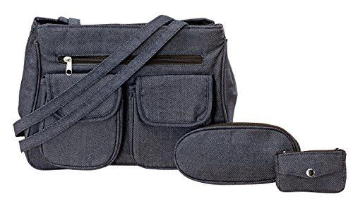 New Trending Make Up Bags: Denim On-The-Go 3 Piece Handbag. Denim On-The-Go 3 Piece Handbag   Special Offer: $8.92      188 Reviews Organize it all in classic denim style. Dressed up or down, this classic denim handbag keeps you stylishly organized. Exterior features a zip compartment and 2 hookandloop pockets. Interior features 2 roomy easyaccess...