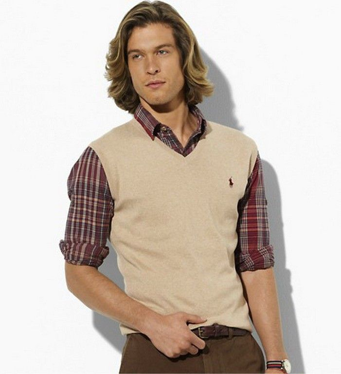 Polo Ralph Lauren Pima V-Neck Sweater Vest | Men's fashion, Man ...