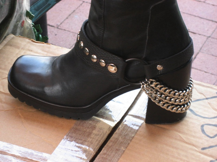 Leather Harness Boot chains, biker boots, western boot jewelry, boot covers, motorcycle boot straps,. $53.99, via Etsy.